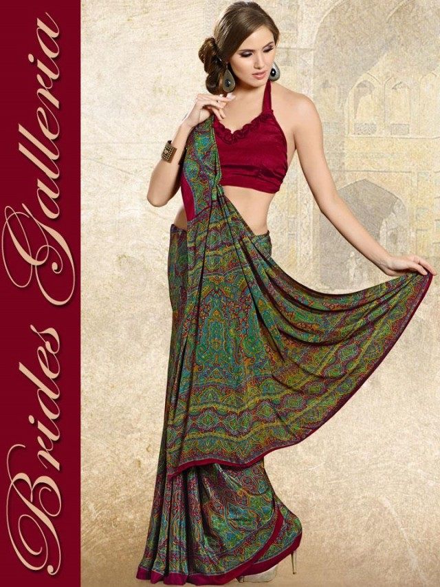Indian-Bollywood Saree-Sari Designs New Fashion For Girls-Women by Brides Galleria-8