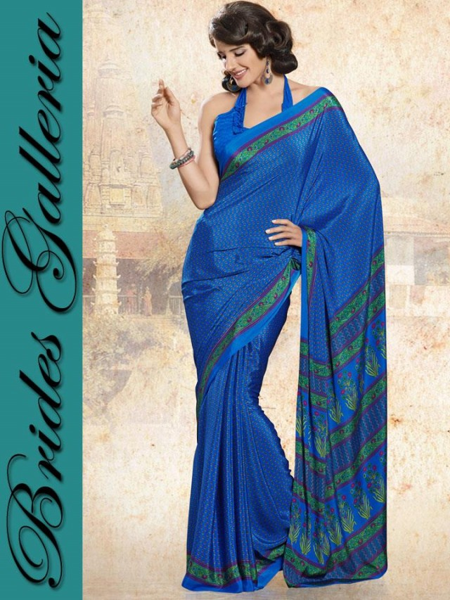 Indian-Bollywood Saree-Sari Designs New Fashion For Girls-Women by Brides Galleria-9