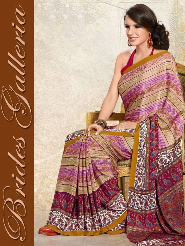 Indian-Bollywood Saree-Sari Designs New Fashion For Girls-Women by Brides Galleria-