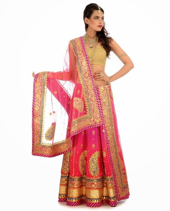 Indian Designer Wedding-Bridal Wear Brides Beautiful New Fashion Lehangas-Choli Dress-11