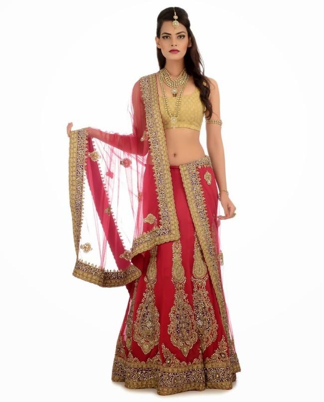 Indian Designer Wedding-Bridal Wear Brides Beautiful New Fashion Lehangas-Choli Dress-12