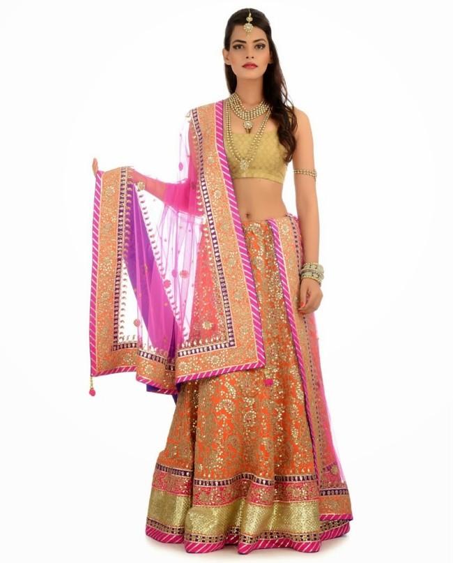 Indian Designer Wedding-Bridal Wear Brides Beautiful New Fashion Lehangas-Choli Dress-13