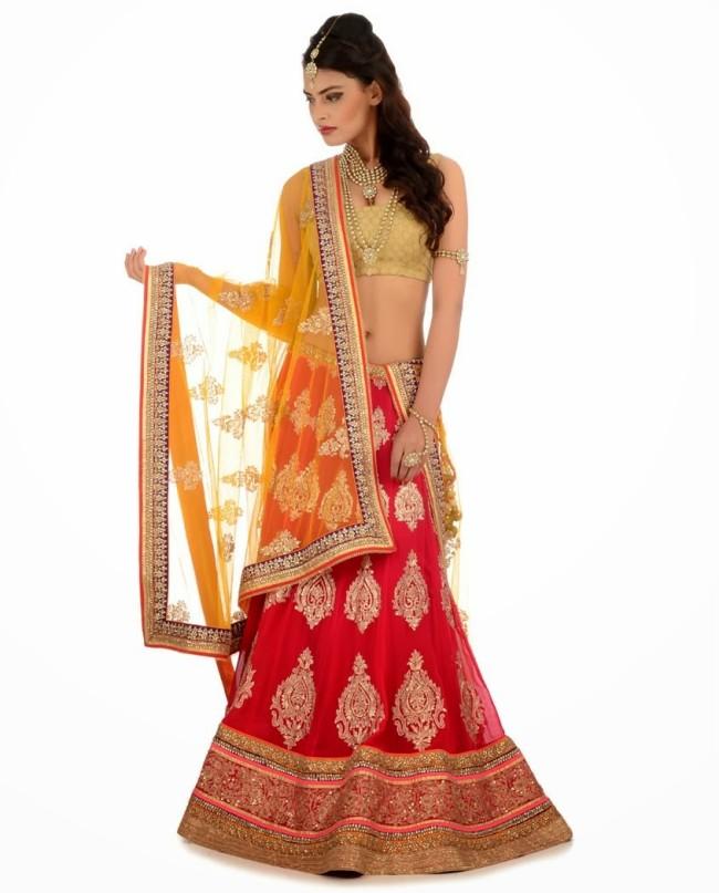 Indian Designer Wedding-Bridal Wear Brides Beautiful New Fashion Lehangas-Choli Dress-3