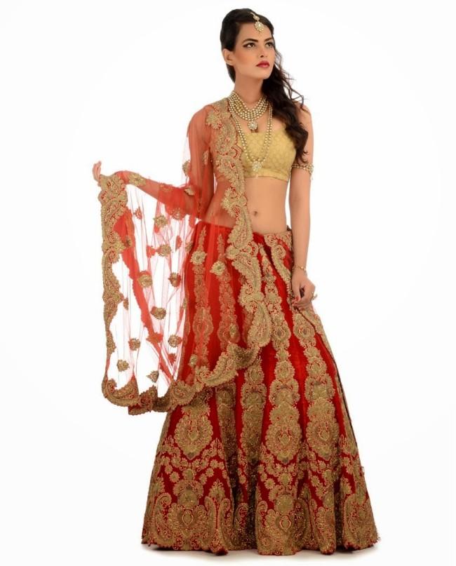 Indian Designer Wedding-Bridal Wear Brides Beautiful New Fashion Lehangas-Choli Dress-4