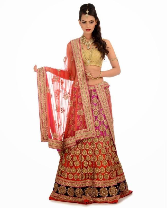 Indian Designer Wedding-Bridal Wear Brides Beautiful New Fashion Lehangas-Choli Dress-6