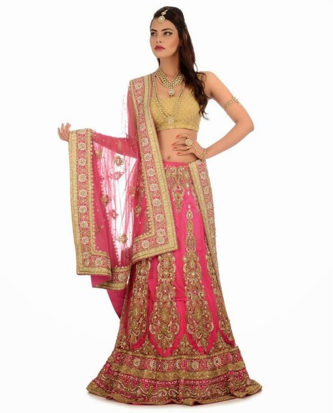 Indian Designer Wedding-Bridal Wear Brides Beautiful New Fashion Lehangas-Choli Dress-7