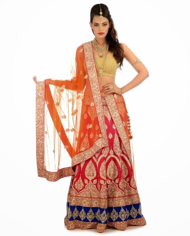 Indian Designer Wedding-Bridal Wear Brides Beautiful New Fashion Lehangas-Choli Dress-9