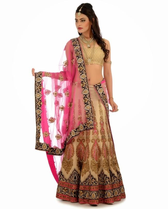 Indian Designer Wedding-Bridal Wear Brides Beautiful New Fashion Lehangas-Choli Dress-