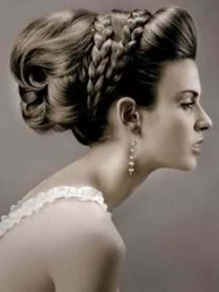 Wedding-Bridal Hairstyle Eastern & Western  New Fashion Hair Cuts for Beautiful-Best Hairs-4