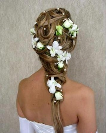 Wedding-Bridal Hairstyle Eastern & Western  New Fashion Hair Cuts for Beautiful-Best Hairs-8