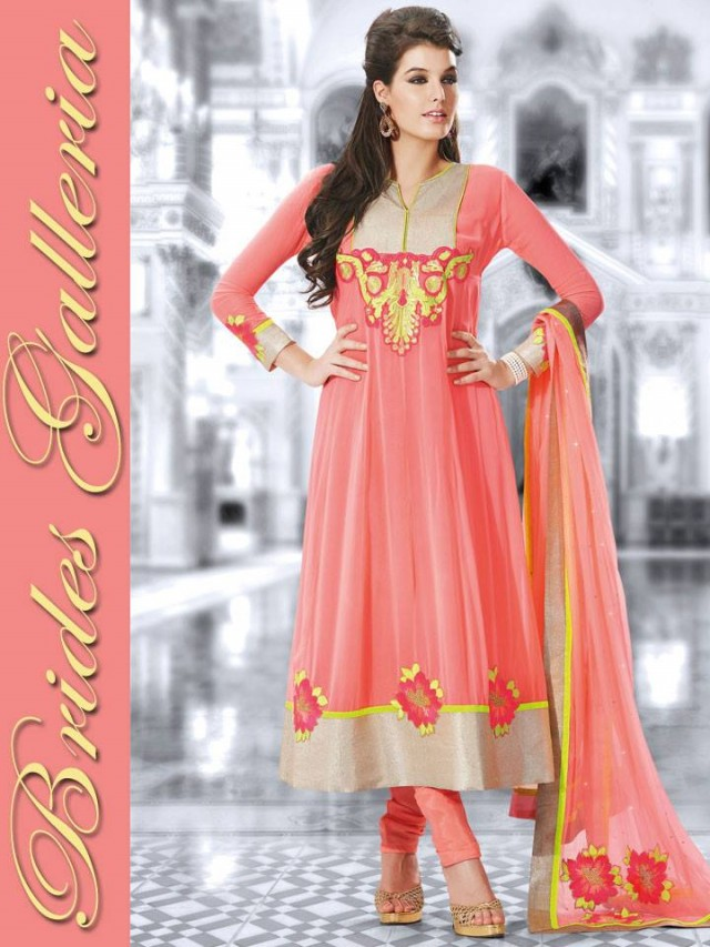 Beautiful Girls Wear New Fashion Dress Anarkali Frocks Suits by Brides Galleria-10