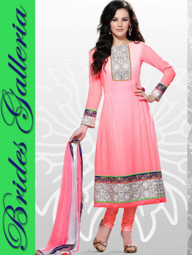 Beautiful Girls Wear New Fashion Dress Anarkali Frocks Suits by Brides Galleria-11
