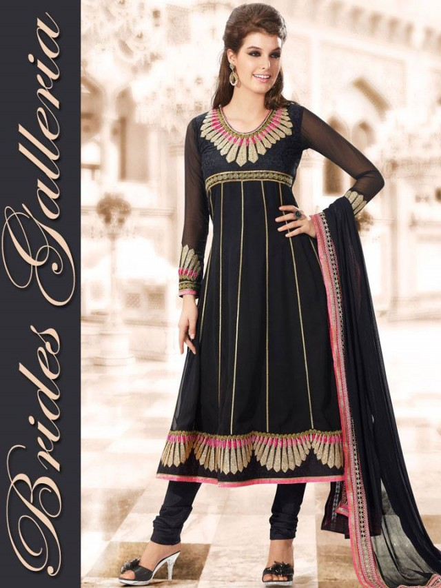 Beautiful Girls Wear New Fashion Dress Anarkali Frocks Suits by Brides Galleria-2