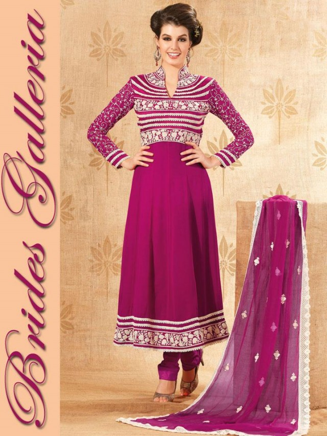 Beautiful Girls Wear New Fashion Dress Anarkali Frocks Suits by Brides Galleria-4