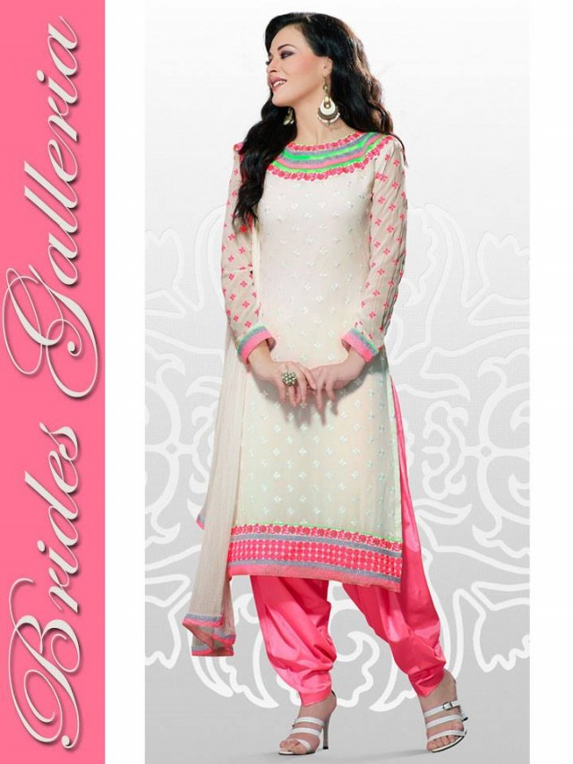 Beautiful Girls Wear New Fashion Dress Anarkali Frocks Suits by Brides Galleria-5