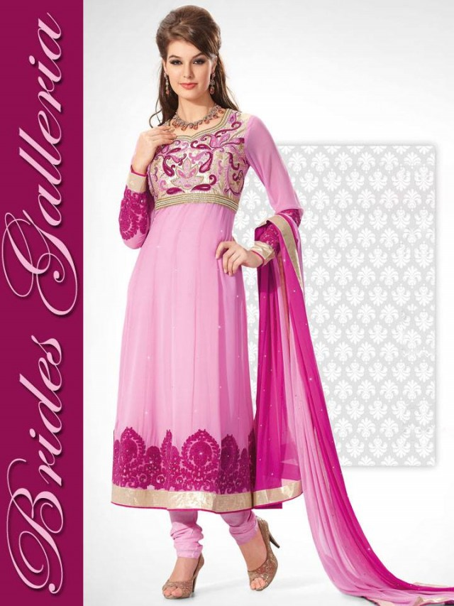 Beautiful Girls Wear New Fashion Dress Anarkali Frocks Suits by Brides Galleria-6