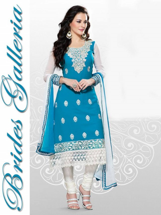 Beautiful Girls Wear New Fashion Dress Anarkali Frocks Suits by Brides Galleria-9