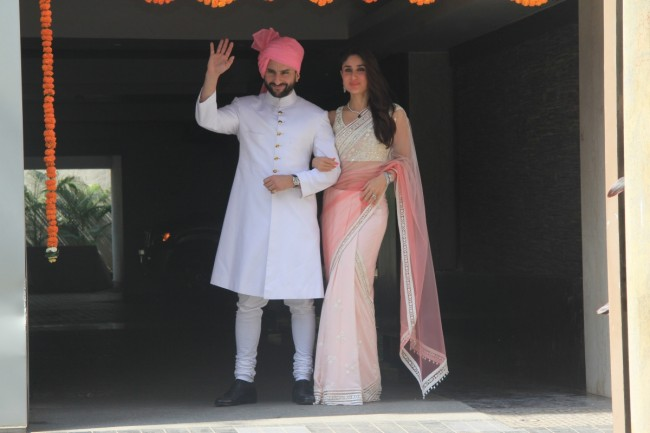 Bollywood-Indian Movies Famous Actress Soha Ali Khan & Kunal Kemmu Marriage Ceremony Pictures-Photoshoot-1