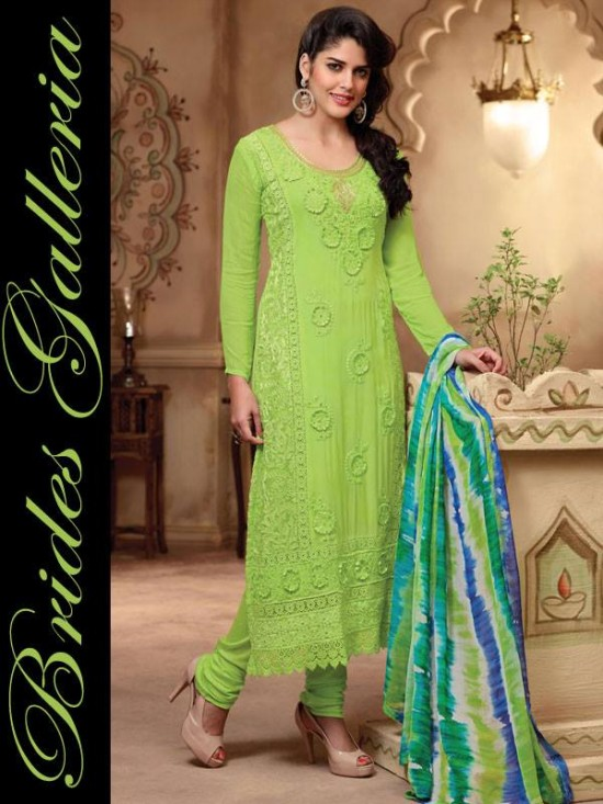 Brides Galleria Beautiful Designer Anarkali Suits Girls-Womes New Fashion Dress-
