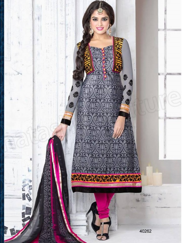 Brides Galleria Embroidered New Fashion Punjabi Salwar-Kameez Suits For Girls-Women-1