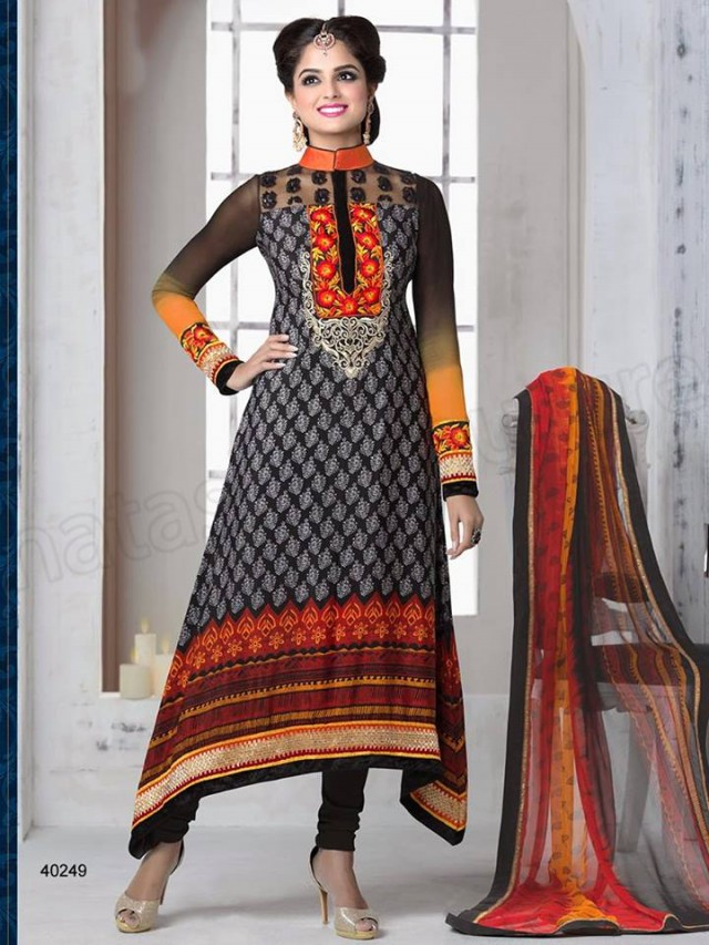 Brides Galleria Embroidered New Fashion Punjabi Salwar-Kameez Suits For Girls-Women-2