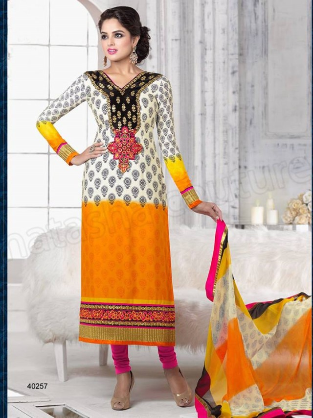 Brides Galleria Embroidered New Fashion Punjabi Salwar-Kameez Suits For Girls-Women-3