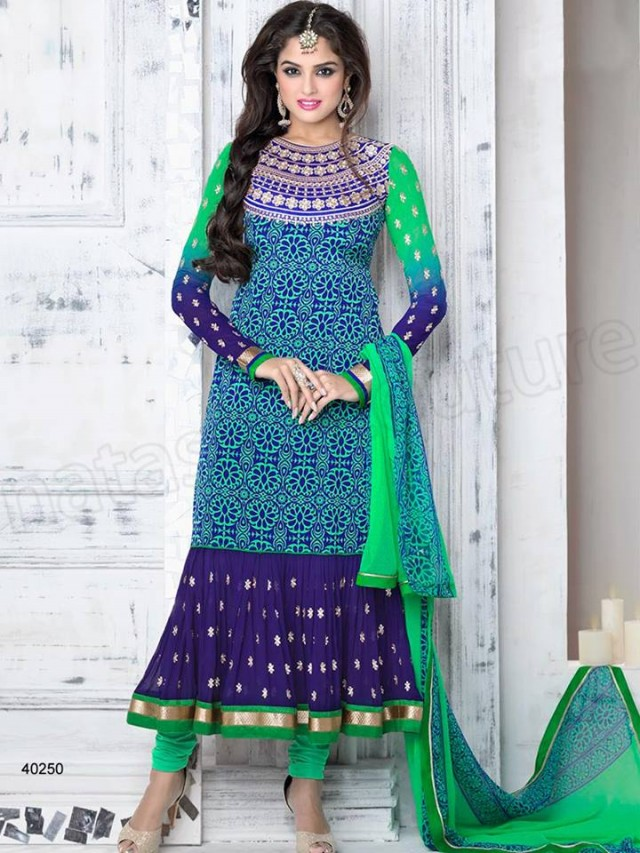 Brides Galleria Embroidered New Fashion Punjabi Salwar-Kameez Suits For Girls-Women-4