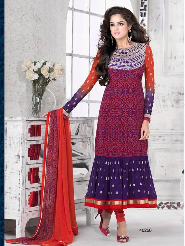 Brides Galleria Embroidered New Fashion Punjabi Salwar-Kameez Suits For Girls-Women-5