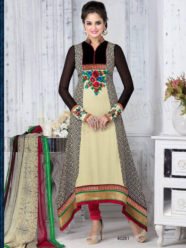 Brides Galleria Embroidered New Fashion Punjabi Salwar-Kameez Suits For Girls-Women-6