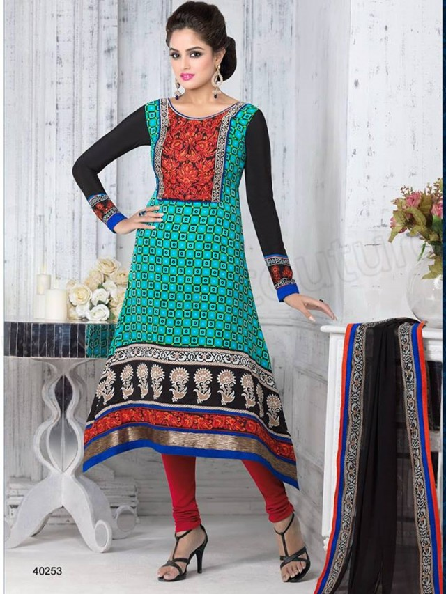 Brides Galleria Embroidered New Fashion Punjabi Salwar-Kameez Suits For Girls-Women-7