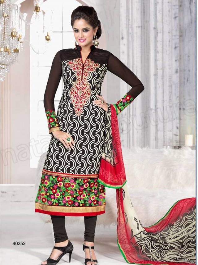 Brides Galleria Embroidered New Fashion Punjabi Salwar-Kameez Suits For Girls-Women-8