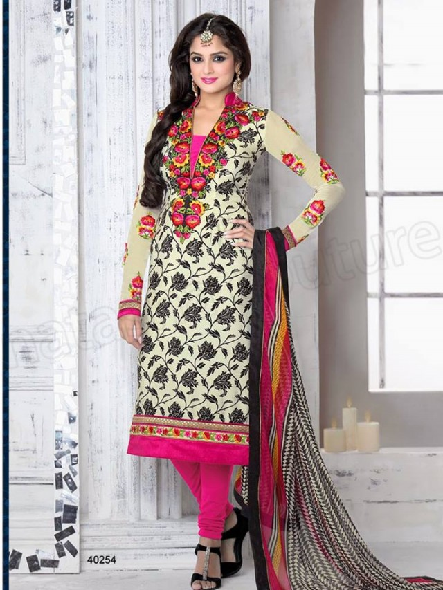 Brides Galleria Embroidered New Fashion Punjabi Salwar-Kameez Suits For Girls-Women-
