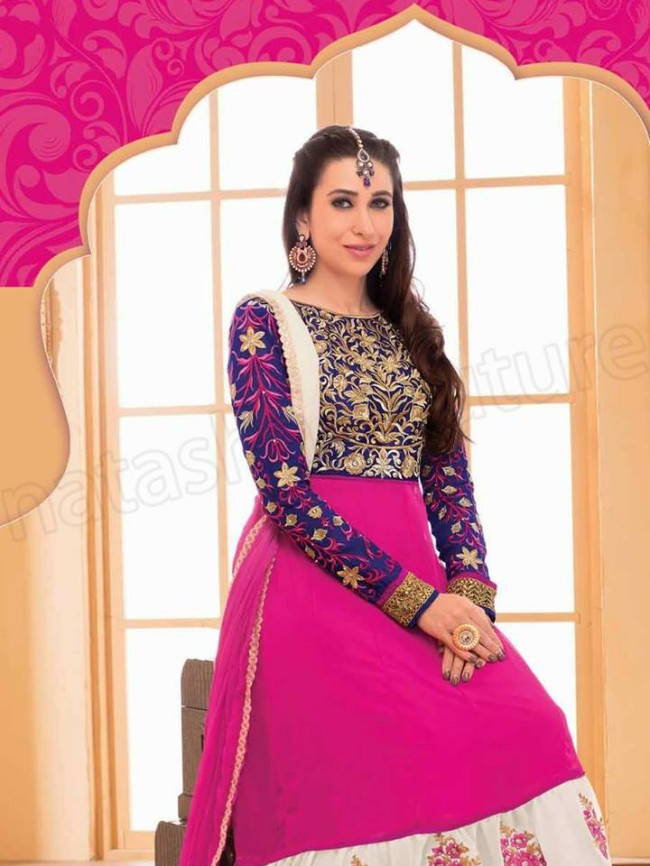 Indian-Bollywood Famous Celebrity Karishma Kapoor Latest Kurtis Dress by Natasha Couture-1