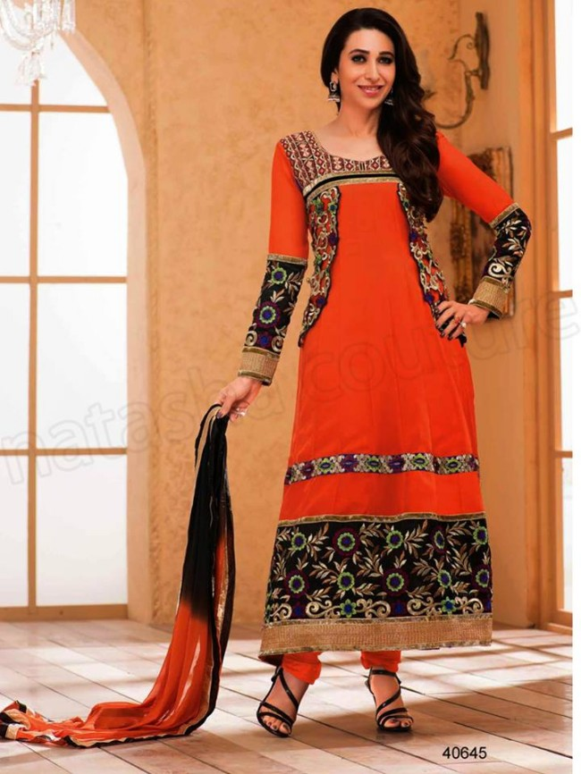 Indian-Bollywood Famous Celebrity Karishma Kapoor Latest Kurtis Dress by Natasha Couture-5