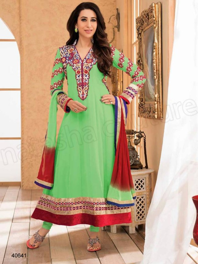 Indian-Bollywood Famous Celebrity Karishma Kapoor Latest Kurtis Dress by Natasha Couture-7