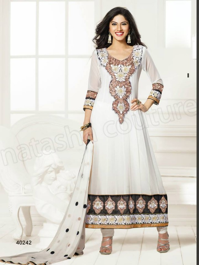 Natasha Couture New Latest Fashion Indian Traditional Anarkali Frocks Suits Teen-Young Girls-1