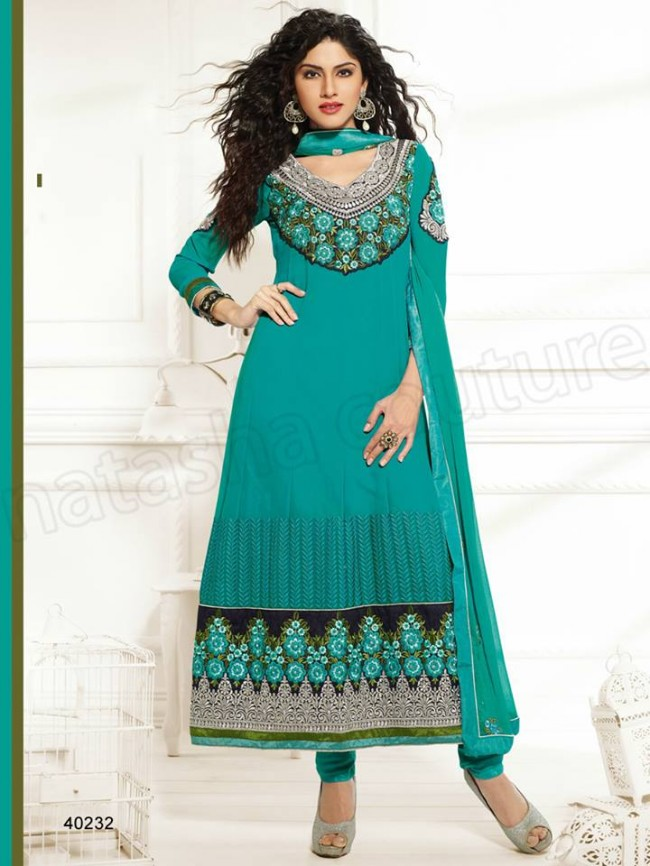 Natasha Couture New Latest Fashion Indian Traditional Anarkali Frocks Suits Teen-Young Girls-2