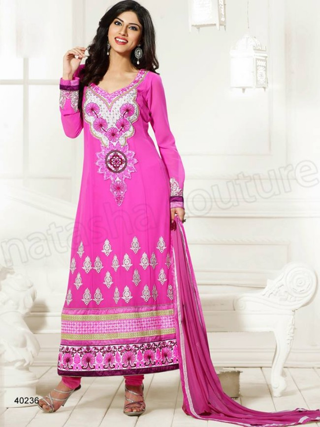 Natasha Couture New Latest Fashion Indian Traditional Anarkali Frocks Suits Teen-Young Girls-