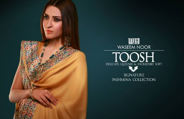 New Latest Fashion Pashmina Winter Wear Dress by Waseem Noor Toosh Signature-1