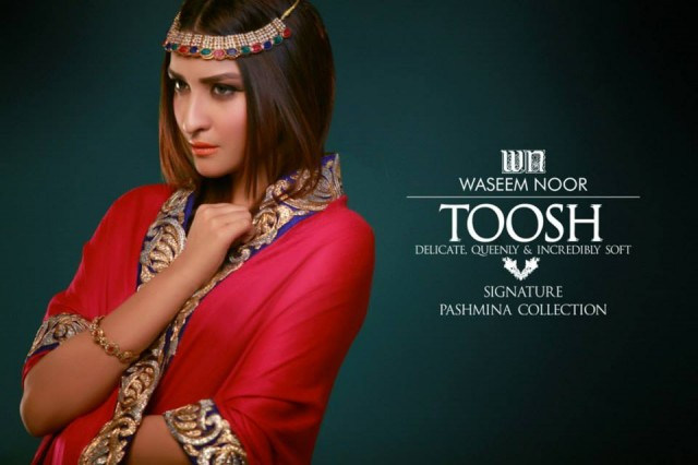 New Latest Fashion Pashmina Winter Wear Dress by Waseem Noor Toosh Signature-2