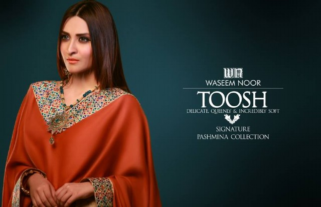 New Latest Fashion Pashmina Winter Wear Dress by Waseem Noor Toosh Signature-3