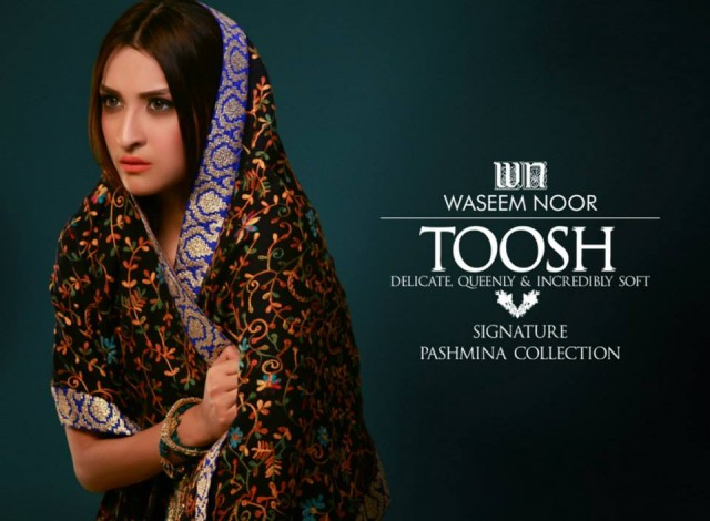New Latest Fashion Pashmina Winter Wear Dress by Waseem Noor Toosh Signature-5