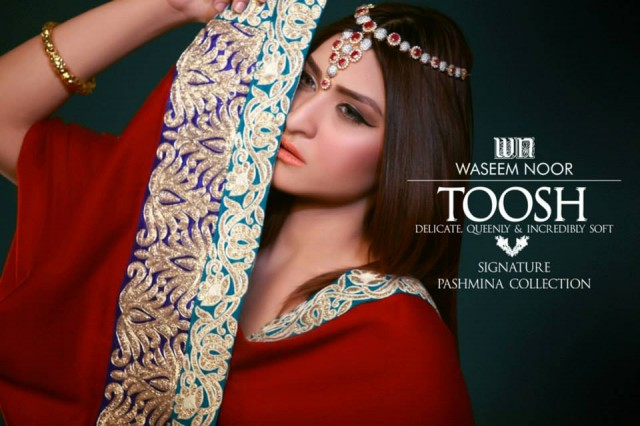 New Latest Fashion Pashmina Winter Wear Dress by Waseem Noor Toosh Signature-6