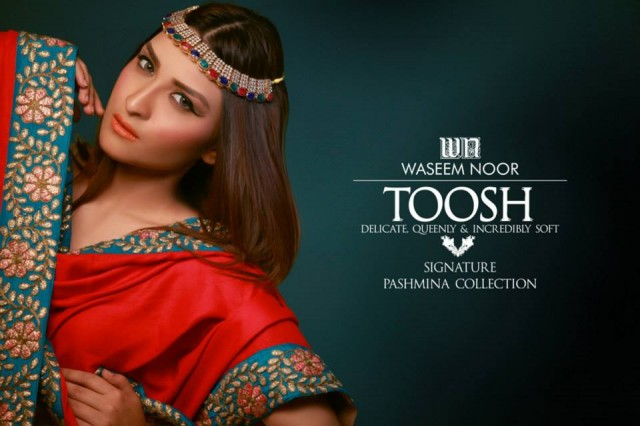 New Latest Fashion Pashmina Winter Wear Dress by Waseem Noor Toosh Signature-7