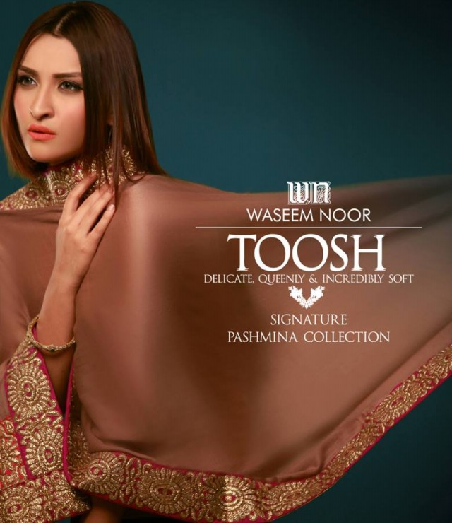 New Latest Fashion Pashmina Winter Wear Dress by Waseem Noor Toosh Signature-8