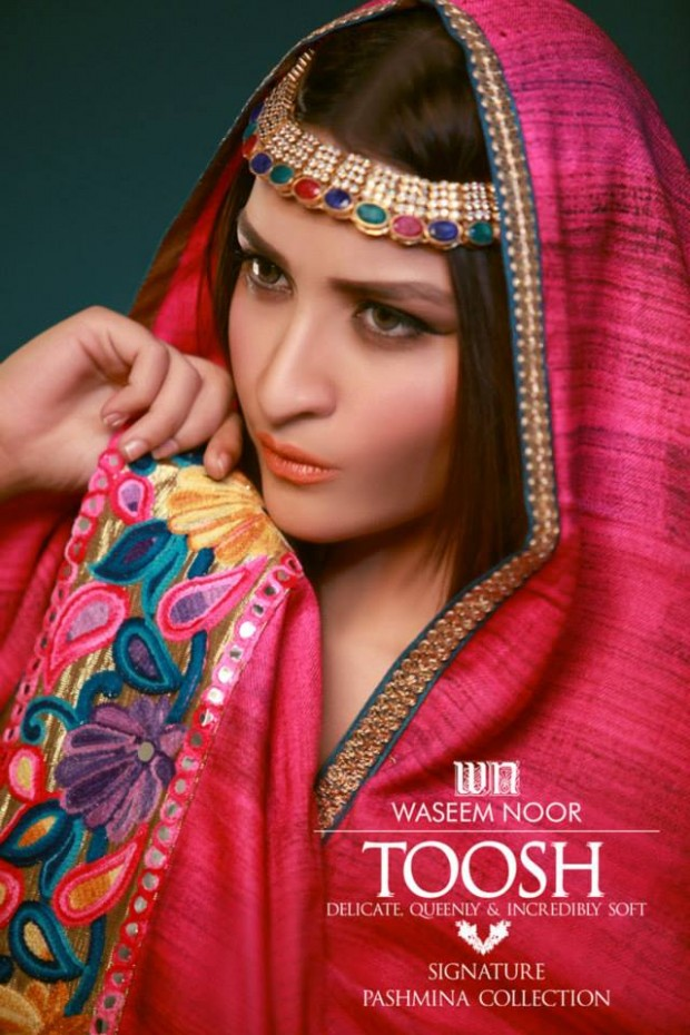 New Latest Fashion Pashmina Winter Wear Dress by Waseem Noor Toosh Signature-9