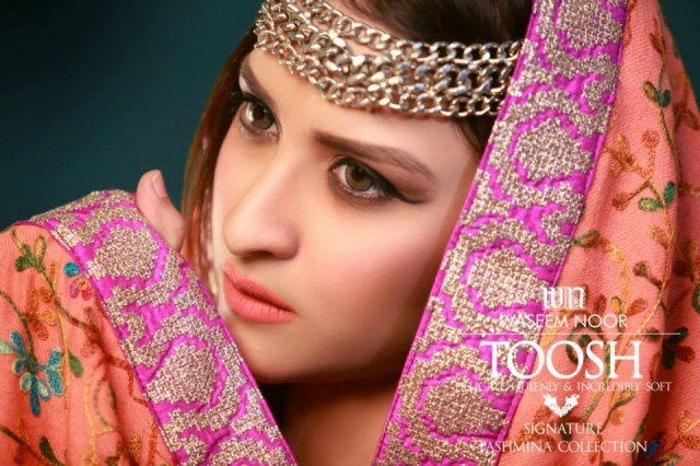 New Latest Fashion Pashmina Winter Wear Dress by Waseem Noor Toosh Signature-