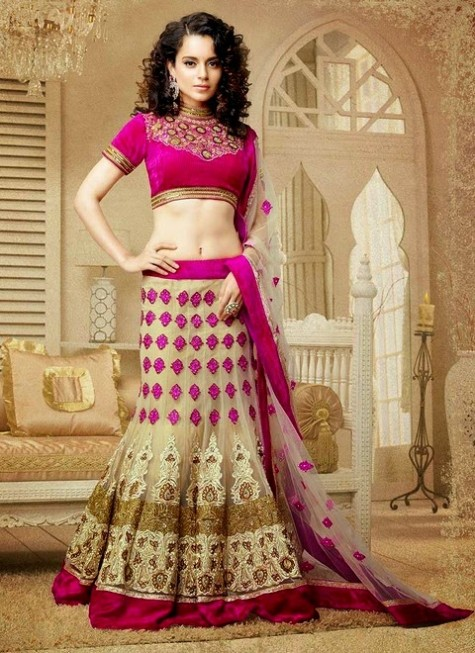 Cbazar Latest Wedding-Bridal Party Wear Lehanga Choli For Girls-3