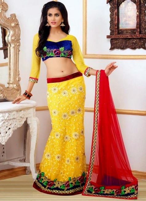 Cbazar Latest Wedding-Bridal Party Wear Lehanga Choli For Girls-6