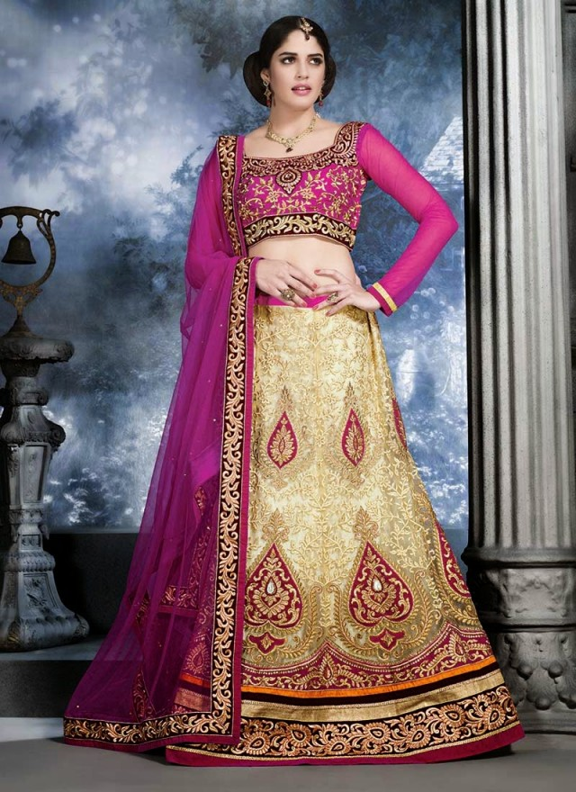 Embroidered Engagement-Wedding-Bridal-A Line Fancy Lehenga-Choli Dress for Brides-Dulhan-2